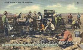 wes002350 - Chuck Wagon Western Cowboy, Cowgirl Postcard Postcards