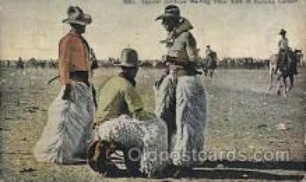 wes002355 - Bucking Contest Western Cowboy, Cowgirl Postcard Postcards
