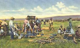 wes002356 - Chuck Wagon Western Cowboy, Cowgirl Postcard Postcards