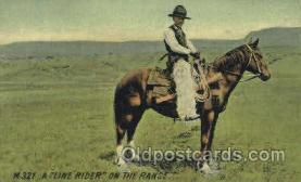 wes002360 - Line Rider Western Cowboy, Cowgirl Postcard Postcards