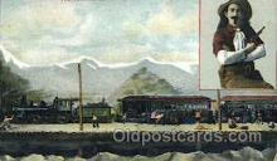 wes002362 - Trrain Robbery Western Cowboy, Cowgirl Postcard Postcards