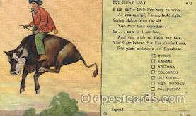 wes002368 - Western Cowboy, Cowgirl Postcard Postcards