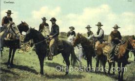 wes002374 - Cowboys Western Cowboy, Cowgirl Postcard Postcards