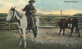 wes002377 - Western Cowboy Western Cowboy, Cowgirl Postcard Postcards