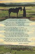 wes002380 - Cowboy's Prayer Western Cowboy, Cowgirl Postcard Postcards