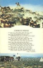 wes002382 - Cowboy's Prayer Western Cowboy, Cowgirl Postcard Postcards