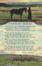 wes002383 - Cowboy's Prayer Western Cowboy, Cowgirl Postcard Postcards