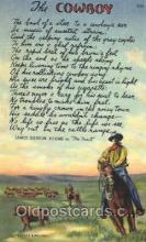 wes002387 - Western Cowboy, Cowgirl Postcard Postcards