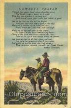 wes002388 - Cowboy's Prayer Western Cowboy, Cowgirl Postcard Postcards