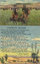 wes002389 - Cowboy's Prayer Western Cowboy, Cowgirl Postcard Postcards