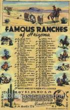 wes002392 - Famous Ranches Western Cowboy, Cowgirl Postcard Postcards