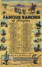 wes002395 - Famous Ranches Western Cowboy, Cowgirl Postcard Postcards