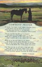 wes002404 - Cowboy's Prayer Western Cowboy, Cowgirl Postcard Postcards