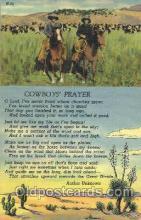 wes002407 - Cowboy's Prayer Western Cowboy, Cowgirl Postcard Postcards