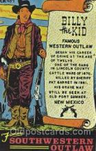 wes002410 - Billy the Kid Western Cowboy, Cowgirl Postcard Postcards