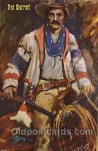 wes002434 - Bat Masterson Western Cowboy, Cowgirl Postcard Postcards