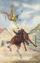 wes002448 - Roping Cattle Western Cowboy, Cowgirl Postcard Postcards