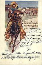 wes002457 - Western Cowboy, Cowgirl Postcard Postcards