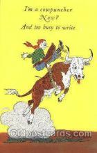 wes002462 - Western Cowboy, Cowgirl Postcard Postcards