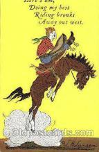 wes002464 - Bucking Buffalo Western Cowboy, Cowgirl Postcard Postcards