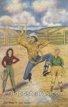 wes002477 - Western Cowboy, Cowgirl Postcard Postcards