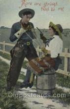 wes002479 - Western Cowboy, Cowgirl Postcard Postcards