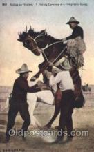 wes002513 - Riding an Outlaw Western Cowboy, Cowgirl Postcard Postcards