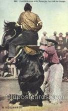 wes002514 - Cowboy Riding Bronco Western Cowboy, Cowgirl Postcard Postcards