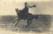wes002515 - Miles City Roundup Western Cowboy, Cowgirl Postcard Postcards