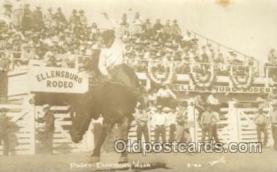 wes002517 - Ellensburg Rodeo Western Cowboy, Cowgirl Postcard Postcards