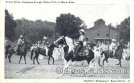 wes002528 - Vivian White Western Cowboy, Cowgirl Postcard Postcards
