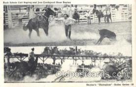 wes002536 - Buck Echols & Jess Goodspeed Western Cowboy, Cowgirl Postcard Postcards