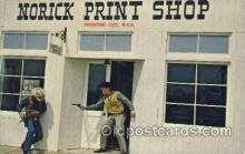 wes002542 - Norick Print Shop, Frontier, USA Western Cowboy, Cowgirl Postcard Postcards