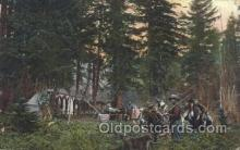 wes002548 - Hunter's Camp Western Cowboy, Cowgirl Postcard Postcards