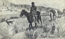 wes002600 - Frederic Remington Western Cowboy, Cowgirl Postcard Postcards