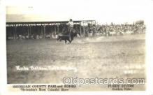 wes002602 - Rube Nelson, Calf Roping, Sheridan County Fair & Rodeo, Purdy Studio, Gordon, Nebraska, USA Western Cowboy, Cowgirl Postcard Postcards