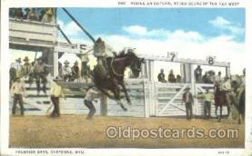 wes002604 - Cheyenne, Wyo, USA Western Cowboy, Cowgirl Postcard Postcards