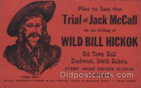 wes002607 - Wild Bill Hickok,  Western Cowboy, Cowgirl Postcard Postcards