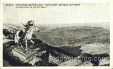 wes002610 - Proposed Buffalo Bill Monument, Golden, Colo Western Cowboy, Cowgirl Postcard Postcards