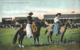 wes002616 - Western Cowboy, Cowgirl Postcard Postcards