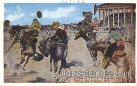 wes002618 - Cheyenne, Wyo, USA Western Cowboy, Cowgirl Postcard Postcards