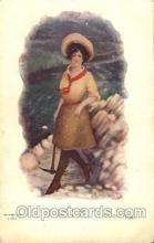 wes002650 - J. Tully Western Cowboy, Cowgirl Postcard Postcards