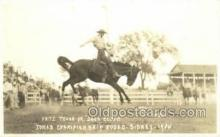 wes002681 - Fritz Truak on Dark Cloud Iowa Chanpionship Rodeo - Sidney 1935 Cowboy Western Old Vintage Antique Postcard Post Cards