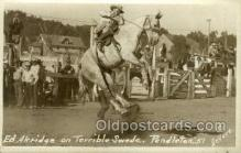 wes002690 - Ed Akridge Cowboy Western Old Vintage Antique Postcard Post Cards