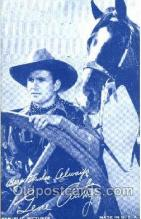 wes100020 - Gene Autry, Western Arcard Cards, non-postcard backing
