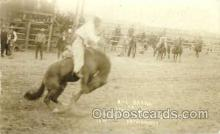 wes100026 - Bill Barns on Jesse James, Real Photo Western Postcard Postcards