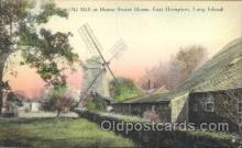 win001008 - The old mill, East Hampton, Long Island, New York, NY USA Windmill, Windmills Postcard Postcards