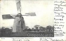 win001010 - The old mill, East Hampton, Long Island, New York, NY USA Windmill, Windmills Postcard Postcards