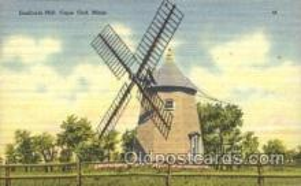 win001011 - Eastham, Cape cod, Mass, USA Windmill, Windmills Postcard Postcards