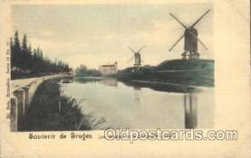 win001012 - Bruxelles, Series 12 No. 17 Windmill, Windmills Postcard Postcards